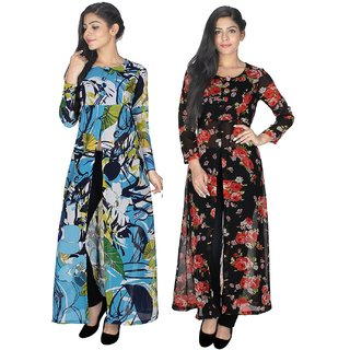 Sukuma Multicolor Printed Georgette Stitched Kurti