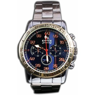 Man sliver Steel Analog Nice Watvh For Boys And Mans