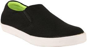 Exotique Mens Black Sneaker-Casual Shoes (EX0037BK)