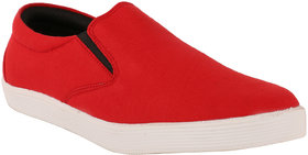 Exotique Mens Red Sneaker-Casual Shoes (EX0037RD)