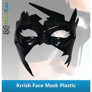 Superhero Krrish Face Mask  Hard Plastic Simba Krrish Face Mask