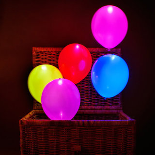 Led Ballons at Cieling Led Balloons From Basket With Multi Colour