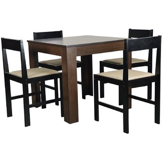 Forzza Peter Four Seater Square Dining Table Set: Buy Forzza Peter Four Seater Square Dining