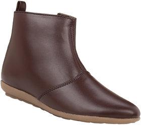 Exotique Womens Brown Casual Boots(EL0030BR)