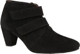 Exotique Womens Black Casual Boots(EL0031BK)