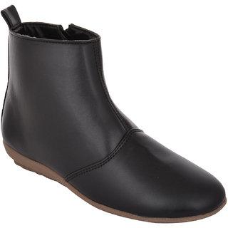 Exotique Womens Black Casual Boots(EL0030BK)