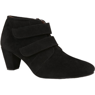 Exotique Womens Black Casual Boots(EL0031BK)