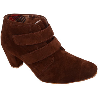 Exotique Womens Brown Casual Boots(EL0031BR)