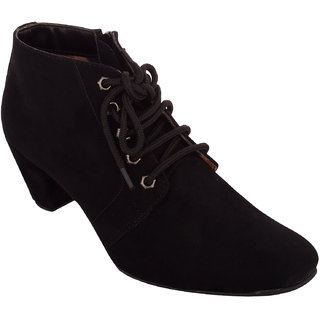 Exotique Womens Black Casual Boot(EL0040BK)