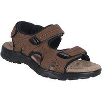 Action Shoe MenS Tan Casual Velcro Sandals