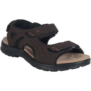 Action Shoe MenS Brown Casual Velcro Sandals