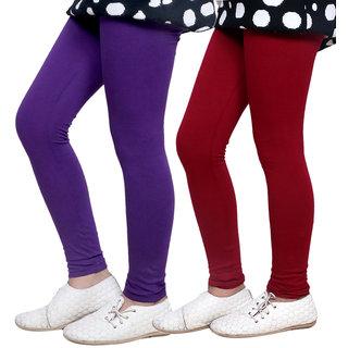 IndiWeaves Kids Super Soft Cotton Leggings (Set of -2)