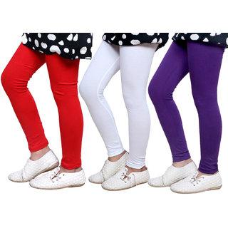 IndiWeaves Kids Super Soft Cotton Leggings (Set of -3)