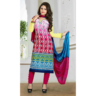 Printed Cotton Suit with Duppata