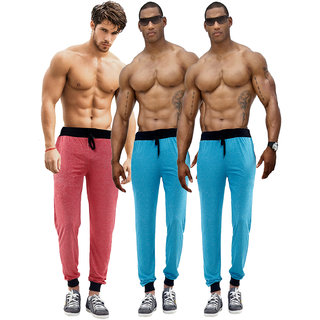 Billu Oye Mens Multicolor Cotton Blend Trackpant