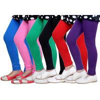 IndiWeaves Kids Super Soft Cotton Leggings  Set of  6