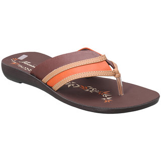 Action Women's Brown & Orange Flats