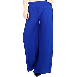 @rk Causal Royal Blue -Palazzo Pants, Palazzo trousers for women ,Girls and ladies