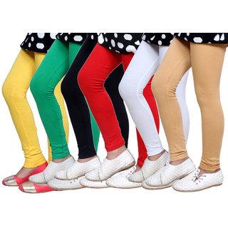 IndiWeaves Kids Super Soft Cotton Leggings (Set of -6)