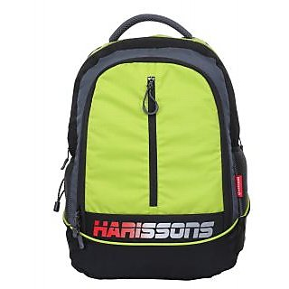 Harissons Atom Lime Green Polyester Backpack