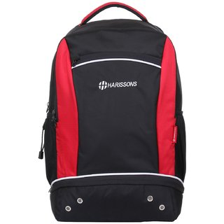 Harissons Ace Black Polyester Backpack