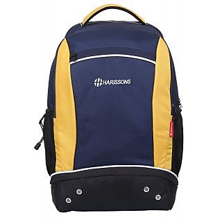 Harissons Ace Navy Blue Polyester Backpack