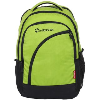Harissons Yes Boss Green Polyester Backpack