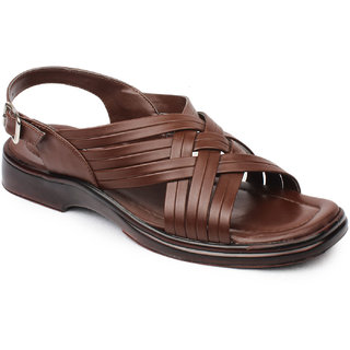 Action Shoe MenS Brown Casual Buckle Sandals