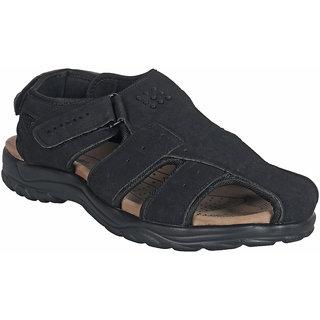 buy action shoe mens black casual velcro sandals online