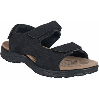 Action Shoe MenS Black Casual Velcro Sandals