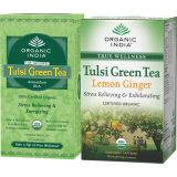 Set Of 2 Tulsi Green Tea 25 Tb Tulsi Lemon Ginger 18 Tb