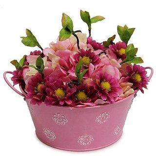 Artificial Pink Flowers Arrangement