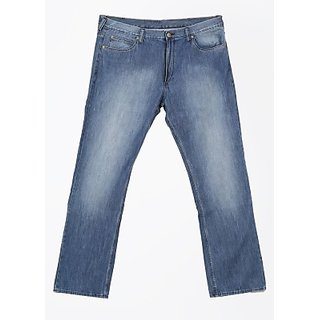 Slim Fit Men Jeans blue in color material cotton blend pattern solid