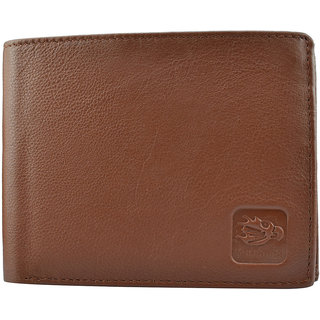 Gents Pure Leather Wallets,Size-10X12X2 Cms,Tan  Nifty
