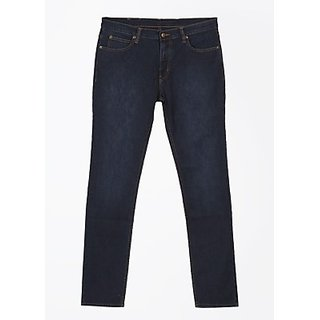 Tapered Fit Men Jeans Fabric Cotton Blend Rise Mid Rise Pattern Solid