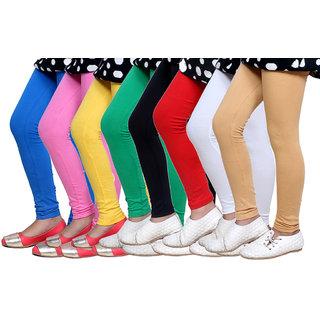 IndiWeaves Kids Super Soft Cotton Leggings (Set of -8)