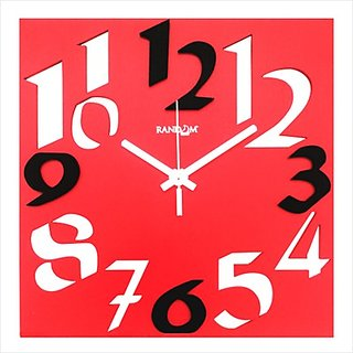 Random Time Zone (Red) Wall Clock