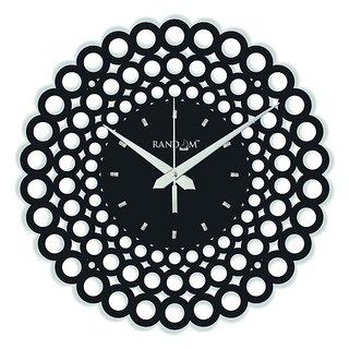 Random Web World Series Circle Black 12 Wall Clock