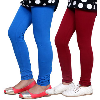 IndiWeaves Kids Super Soft Cotton Leggings (Set of -2)