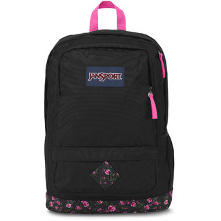 JanSport All Purpose Laptop Backpack (Lipstick Pink Tea Rose Ditzy)