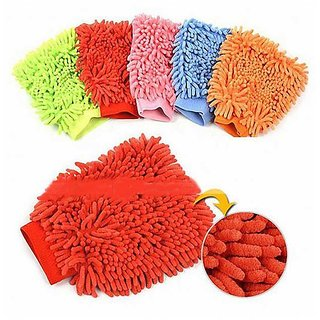 Microfiber Glove for Car Cleaning Washing (Set of 2)- S4D