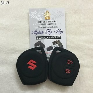 Suzuki Silicone Car Key Cover for Swift, Dzire, Ertiga, Ritz, SX4, Wagonr