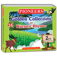PIONEERS - GOLDEN COLLECTION OF NURSERY RHYMES 2 CDs 100 Animated Rhymes Age 2 To 5 Years