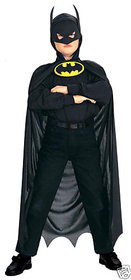 Batman Black superhero  costume for kids