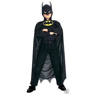 Batman Black superhero  costume for kids