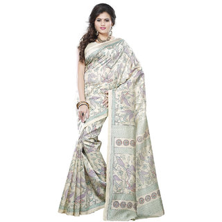 Keshvi Fashions Multicolor Silk Printed Saree With Blouse