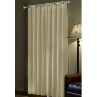 Portico Polyester Door Curtain Ivory -(90x53) inches