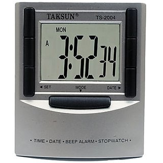 DIGITAL CLOCK LCD DAY DATE ALARM STOPWATCH TAKSUN TS 2004