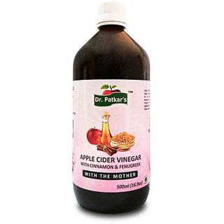 Dr. PatkarS Apple Cider Vinegar With Cinnamon And Fenugreek (500Ml X 1) Single Bottle