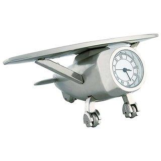 Silver Aeroplane watch,table clock